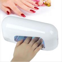 Профессиональный 9 Вт УФ гель лак для ногтей сушилка лампы гель Акриловые отверждения свет ногти spa комплект AC110 V/220 В 1 шт. УФ-лампы для ногтей No name 32590922109