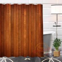 Пользовательские древесины горячая распродажа популярных полиэфирной ткани печати Душ Шторы Ванная комната Водонепроницаемый товары с Ванна Шторы подарок shunqian 32794024426