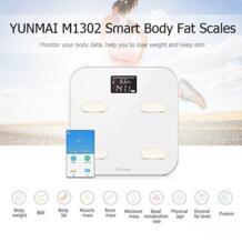 100% Оригинальные YUNMAI M1302 электронные весы Премиум здоровья весы Поддержка Bluetooth приложение цифровой жир процент тела жира весы No name 32853861154