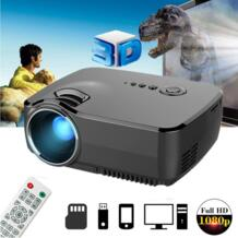 GP70 ЖК-Портативный светодиодный проектор 1080 P Full HD 1200 люмен HDMI USB VGA tv AV порт Дополнительный bluetooth беспроводной проектор Wi-Fi LEORY 32916034709