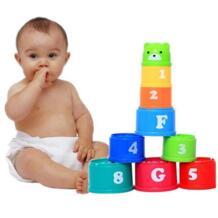 9 шт./упак. Multi Цвет цифры и буквы Foldind стека Кубок башня детские развивающие игрушки рано интеллекта игрушка Цвет случайный No name 32875239464