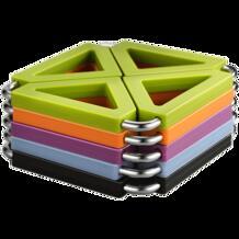 1 шт. масштабируемой творчества высокое качество силикагель + стальная изоляции колодки Посуда матрас Кухонные принадлежности коврик экологичный бытовой No name 32884957362