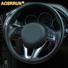 из углеродного волокна, многофункциональные кнопки на руль, автомобильные аксессуары для MAZDA CX 5 CX5 2012 2013, автомобильный Стайлинг-in Лепнина для интерьера from Автомобили и мотоциклы on AliExpress AOSRRUN 32221488591