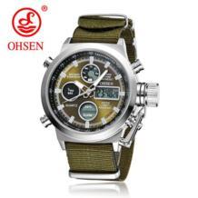 Горячая продажа оригинальный известный бренд кварцевые часы «» мужские спортивные часы мужские часы нейлоновая лента Модные Повседневные ручные часы для мужчин подарок Ohsen 32370355007