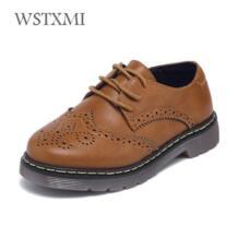 Детские из натуральной кожи Свадебные модельные туфли для больших девочек и мальчиков дети черный школы производительность вечернее лоферы на плоской подошве Мокасины WSTXMI 32858691181