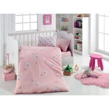 Набор розовых пододеяльник из 100% хлопка с рисунком кролика Little Dreams (1 пододеяльник 1 простыня 1 наволочка 1 Наволочка) No name 33013907919