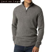 Just No Logo Свитер мужской на молнии вязаный пуловер джемпер трикотаж кашемир пуловер 4 выбора цвета Зима/Весна No name 32830828223