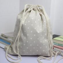 Женские Мужские сумки на шнурке ретро рюкзак холщовые рюкзаки в горошек для подростков школьная сумка на плечо дорожный мешочек для хранения 2,45 @ xiniu 32845404483
