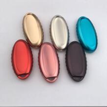 Мягкий ТПУ хромированный Цветной Автомобильный ключ чехол SQashqai Pathfinder Versa Tidda Murano Rogue X-Trail ключ дистанционного управления куртка No name 32257542467
