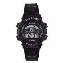 Летний Стиль Мода Мальчик Пластик Спорт Водонепроницаемый часы Нержавеющаясталь ЖК-дисплей Винтажные часы Best подарок, оптовая продажа Balight 32641874433