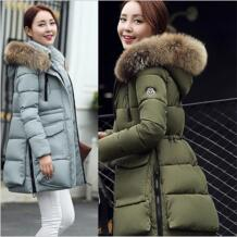 Для женщин зимнее пальто куртки и пальто для Женская куртка-парка Femme военная куртка Для женщин Xl длинное пальто парка Wc91191 Mairuker 32717150901