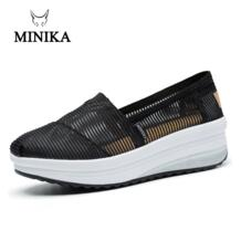 Minike/обувь; весенние кроссовки; женская супердышащая обувь; обувь для фитнеса без застежки; увеличивающая рост обувь из сетчатого материала; zapatillas mujer-in Тонизирующая обувь from Спорт и развлечения on AliExpress - 11.11_Double 11_Singles' Da Minika 32995538379