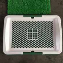 Сетка собак лоток туалет с тремя слоями газон щенок судно писсуар оборудования собака приучение к туалету туалетные принадлежности DADYPET 32865561564