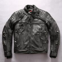 HARLEY ANGEL профессиональная мотоциклетная куртка из натуральной кожи для мужчин Slim Fit Cowskin Мужская байкерская куртка съемные пальто NOBLE DUKE 32844821763