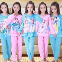 Подарок для девочки, 2017 детская одежда, осенне-зимние пижамы для маленьких девочек, хлопковая ночная рубашка принцессы, Детская домашняя одежда для сна, fhf67 PUCKISH BABY 32840662729