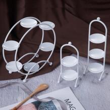 Белый кекс подставки Macaron Торт Свадебный дисплей Таблички колесо обозрения Тип Конфеты торт еда лоток День Рождения вечерние Bay инструменты SWEETGO 32830263298