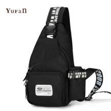 Высокое качество водонепроницаемый Оксфорд человек небольшой груди сумка мужская на молнии рюкзак hasp сумка Винтаж черный синий Back Pack No name 32450649095