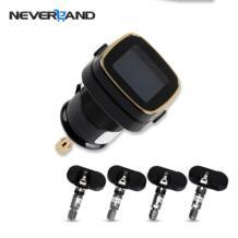 беспроводной автомобиля TPMS шин давление мониторинга системы + 4 внутренних датчики Авто прикуриватели NEVERLAND 32647108043