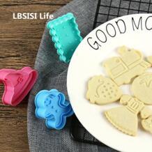 LBSISI жизнь мультфильм форма для выпечки печенья 3D мультфильм печенье формы для домашней готовки выпечка выталкиватель для глины LBSISI Life 32847712882