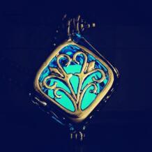 20 шт./лот Magic Древо жизни квадратный медальон светятся в темноте светящиеся игрушки Светящиеся полые Цепочки и ожерелья дети День рождения игрушки No name 32848163483