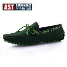 Новые замшевые телячьей кожи повседневная обувь на шнуровке слипоны Лоферы модная мужская автомобили обувь 6 цветов No name 1790807023