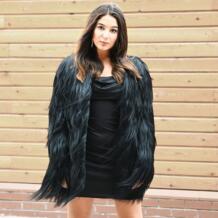 CX-G-A-24 Подлинная Коза Fur Fashion Дизайн теплые На зимнем меху пальто Для женщин На зимнем меху пальто индивидуальный заказ No name 1449501802