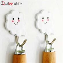 3 шт., белый облачный стиль, липкие крючки, настенная присоска для ключей, органайзер для одежды, держатель, декоративная настенная дверь, Прочная вешалка, крючки BalleenShiny 32809407839