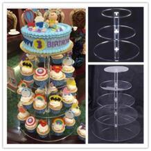 акриловый торт стенд круглая чашка кекс держатель Свадьба День Рождения украшения события десерт Sugarcrafts дисплей подставки Urijk 32844647602