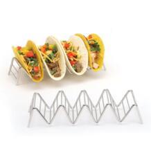 Удобный Chic Нержавеющаясталь Taco подставка держатель этажерки печь мыть в посудомоечной машине Ресторан Горячие No name 32931161697