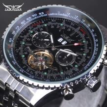 Мужские часы люксовый бренд Tourbillon автоматические механические часы Универсальные мужские часы из нержавеющей стали Montre Homme JARAGAR 32602229327