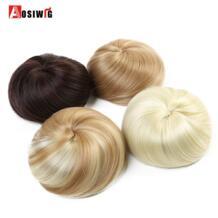 Для женщин синтетический шиньон волос булочка пончик клип в шиньон Коричневый Красный синтетический высокое температура волокна AOSIWIG No name 32851123139