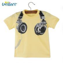 /Высококачественная хлопковая Футболка для мальчиков 2018 г. Забавная одежда для малышей Повседневная футболка с короткими рукавами для маленьких мальчиков, Kleding, Прямая поставка LONSANT 32829751780