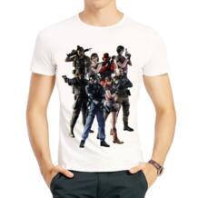 Футболка с короткими рукавами и принтом «Обитель зла», Модная белая футболка с принтом «Обитель зла», футболка для мужчин SexeMara 32261331248