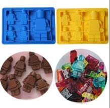 Весело Lego Человек Робот коктейли силиконовые формы для льда Шоколад помадка Плесень DIY бар вечерние десерт инструменты No name 32735157227
