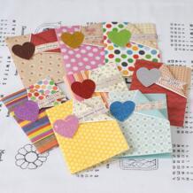 Винтажные поздравительные открытки с блестящим сердцем, открытки ручной работы, открытки на день Святого Валентина, маленькие поздравительные открытки для детей ENO Greeting 32808343909