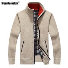 Горные Новые мужские свитера осень зима теплый пуловер толстый кардиган пальто Мужская брендовая мужская одежда Повседневный трикотаж SA582 Mountainskin 32924266269
