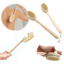 Натуральная щетина средства ухода за кожей кисточки деревянный массаж щетка с длинной ручкой для ванной скребок для тела кожи тематические товары про рептилий и земноводн No name 32613399604