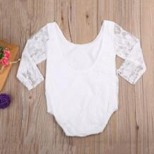 Для малышей; Комбинезоны для маленьких девочек кружевной топ с длинными рукавами и с цветочным рисунком; комбинезон, одежда для подвижных игр комплекты для маленьких девочек pudcoco 32819500945