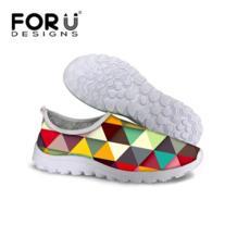 Forudesigns/женские летние повседневные туфли, дышащая женская сетчатая обувь на плоской подошве, подросток Обувь для девочек Обувь для прогулок женская обувь на платформе No name 32498337429