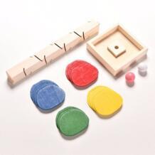 Деревянные красочные запустить мяч трек игры Bebe игрушки развивающие взрослые и дети играют вместе детства сопровождать Montessoring No name 32868385691