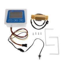 """Цифровой ЖК-дисплей дисплей датчик расхода воды расходомер totameter Температура времени запись с G1/2 """"датчик расхода OOTDTY 32959206628"""