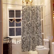 Yl08 Ванная комната полиэстер Ткань душ Шторы Водонепроницаемый черные и белые пикантные Зебра Для ванной Декор полосатый Шторы с 12 Крючки No name 32330278737