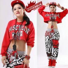 Новые модные повседневные джазовые пуловеры с длинными рукавами и надписью, свободные толстовки с капюшоном, танцевальные сексуальные короткие толстовки в стиле хип-хоп Sally Dance 32669178614
