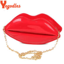 мода желе мешок для женщин кожаная сумка мультяшная сумка почтальонка Сексуальная Блеск День сцепления вечерняя сумочка; BS010 красные губы Yogodlns 32607705458