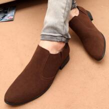 Мужские туфли в британском стиле, дышащие мужские модельные туфли, мужские деловые туфли без шнуровки, цвет черный, коричневый YELUOHK 32745144798