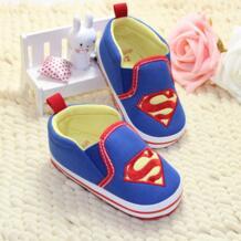 Модный новый малыш милый Первый ходунки обувь для новорожденных мальчиков детей Супермен мягкая подошва хлопчатобумажная стеганая обувь tong you yuan 32572063401