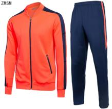 для взрослых с длинным рукавом футбол наборы костюм Футбол бег куртки и брюки Для мужчин пальто брюки Футбол спортивный костюм BA5/ 12 ZMSM 32870747581
