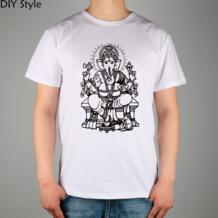 Ганеш Бог Слон Ганеша индийский буддист Мужская футболка с короткими рукавами Новое поступление Модная брендовая футболка для мужчин лето-in Футболки from Мужская одежда on Aliexpress.com | Alibaba Group EVOCUST 2048586255