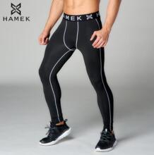 2017 новые высококачественные анти-пот длинные серые линии спортивные штаны для бега леггинсы фитнес компрессионная одежда мужские колготки для бега 32753900130