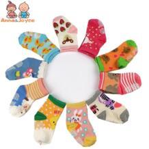 10 пар/лот Лидер продаж 100% хлопок Детские Носки резиновые скольжению носки-тапочки мультфильм маленькие детские носки No name 32597595413